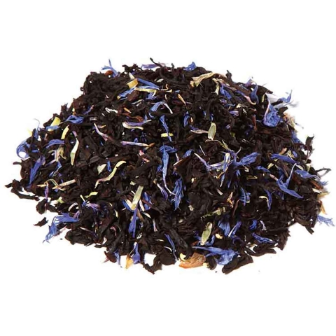 Te negro Blue Earl Grey Flowers