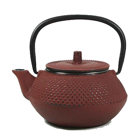 Tetera roja de hierro con filtro 0,3L