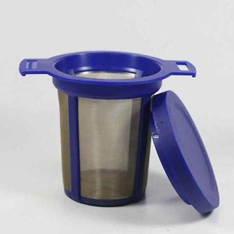 Filtro permanente azul para té e infusiones
