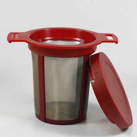 Filtro permanente rojo para té e infusiones