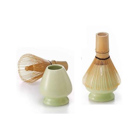 Soporte de ceramica para batidor de bambú