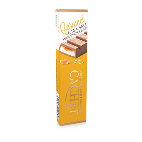 Chocolate con leche belga con caramelo y sal