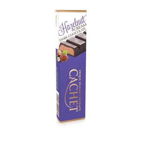 Chocolate negro belga con crema de avellanas