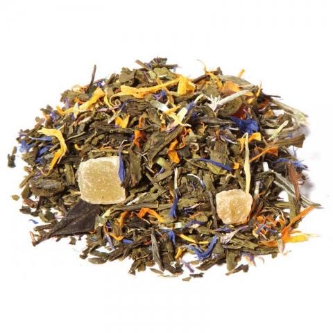 Té verde pasión, té verde frutas de la pasión y bergamota