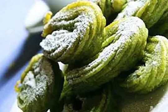 Churros con té verde Cook Matcha