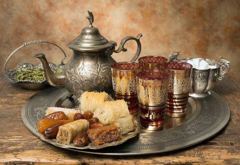 Ceremonia del té en Marruecos